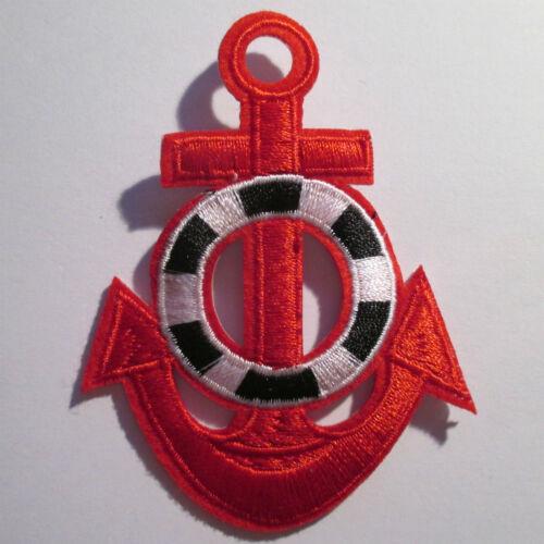 Anker Aufnäher anchor patch Rockabilly St Pauli rot Bügelbild Aufbügler Punk