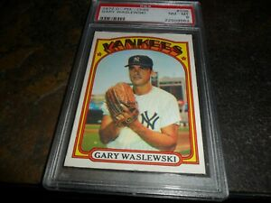 1972 O-Pee-Chee Gary Waslewski NEW YORK YANKEES #108 NM MINT PSA 8
