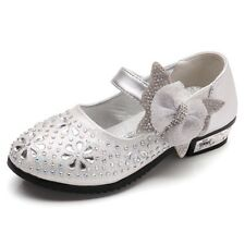f9970bdb9a45 Girls Toddler Bow Princess Shoes Glitter Strip Ballet Dress Kid Girl Flat  Heels
