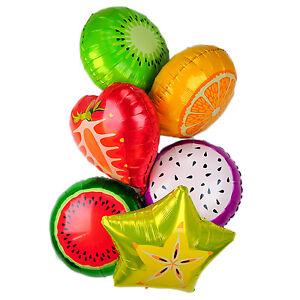 6x-globos-de-papel-metalico-fiesta-cumpleanos-Aire-Redondo-Color-solido-FRUTA