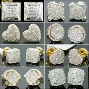 18K-Gold-Square-Cube-AAA-zircon-Stud-Earrings-for-Men-Women-Wedding-Jewelry-Gift