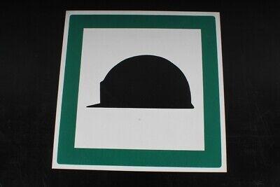 Sinnvoll Hinweisschild Schild Helmpflicht Helm Tragen Grün 29,8cm X 29,8cm Um Der Bequemlichkeit Des Volkes Zu Entsprechen