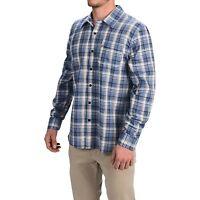 Gramicci - Men's XXL - NWT - Blue 100% Cotton Plaid Madras L/S Button-Down Shirt