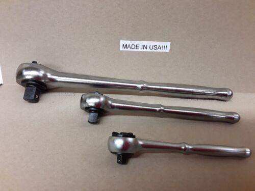Craftsman Ratchet Set 1//2 3//8 1//4 Drive Round Handle USA 1//2 /& 3//8 Industrial