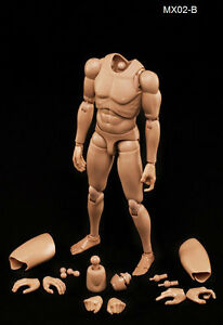 1-6-Asian-Skin-Tone-Matte-Version-Male-Action-Figure-Body-12-Inches-Tall