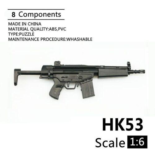 """Échelle 1//6 HK53 pistolet fusil pour 12/"""" ACTION FIGURE MODEL armes Soldat SWAT Toys"""