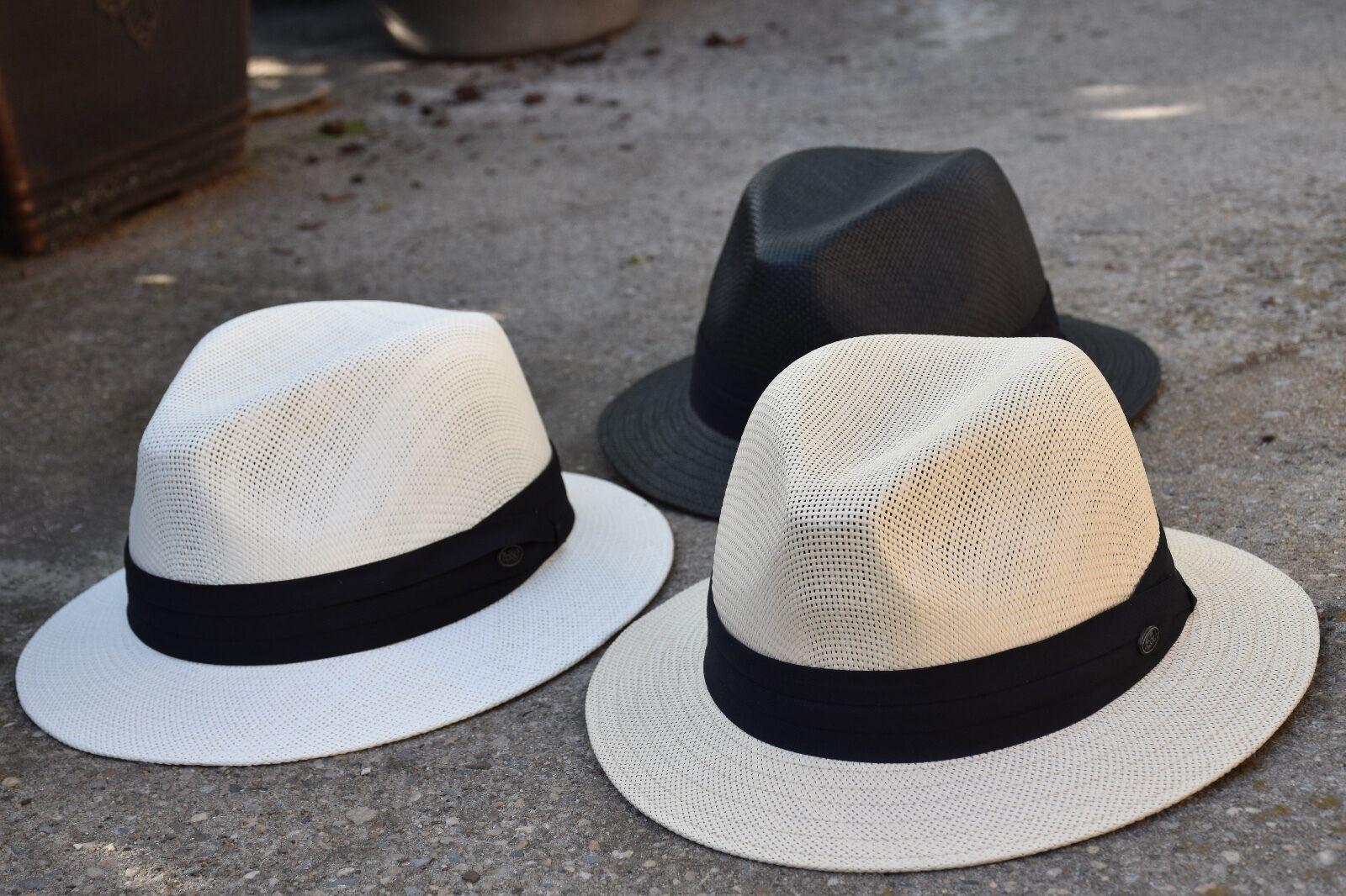 Mens Summer Hat Fedora Hat Straw Trilby Hat Summer Light Weight Dress Hat EPf2688 9d9e43