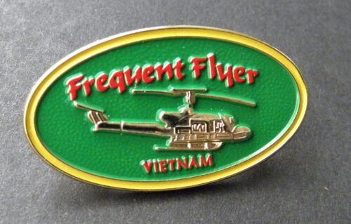 VIETNAM VET FREQUENT FLYER HUEY VETERAN LAPEL PIN BADGE 1.25 INCHES
