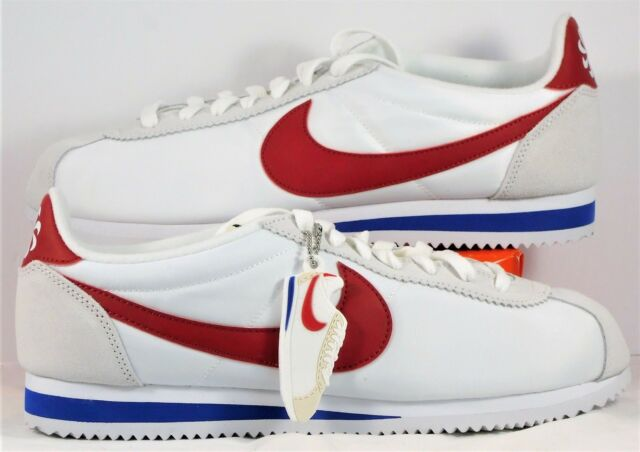 sports shoes d332f 989fe Nike Classic Cortez AW QS Forrest Gump White  Red  Royal Sz 10 NEW 847709