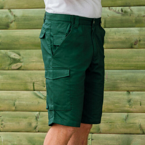 Russell Mens Workwear Multi Pocket Cargo Combat Comfortable Shorts Handyman New