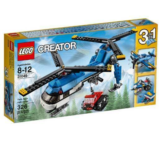LEGO Creator 31049 Twin Spin Helicopter Building Kit (326 Piece) For Kids Lego