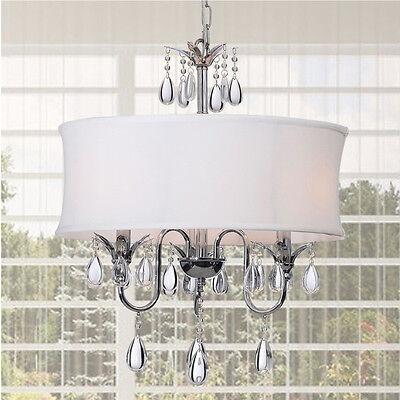 Crystal Chandelier Lighting Pendant Ceiling Fixture 3-Light Lamp Mount Shade New
