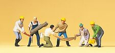 Preiser 10042 H0, Waldarbeiter, 6 Figuren, handbemalt, Neu