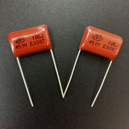 10PCS CBB21 105J 450V 1UF 1000NF P15 Metallized Film Capacitor