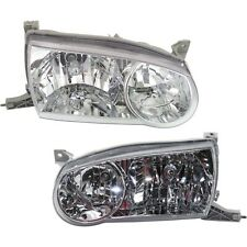 Headlight Set For 2001 2002 Toyota Corolla Sedan Left And Right With Bulb 2pc Fits 2002 Toyota Corolla