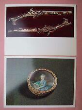 Sowjetunion Ansichtskarte Moskau Kreml Rüstkammer: Tabaksdose, Pistolen - 1976