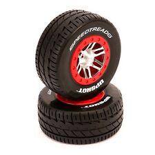 Dynamite DYN5133 SpeedTreads Upshot Mounted Tires / Wheels (2) Traxxas Slash 4x4