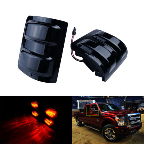 Amber LED Side Mirror Marker Turn Signal Light For Ford F250 F350 F450 2008-2016