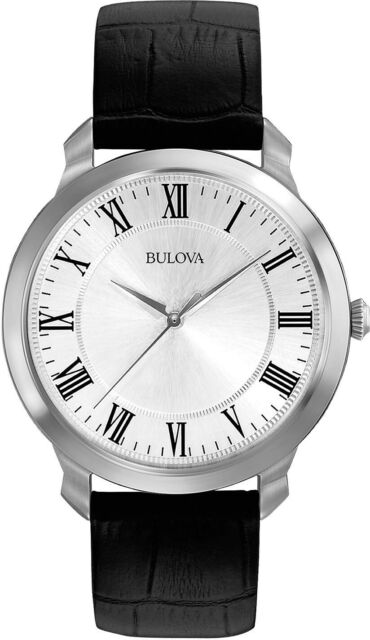 Bulova Classic Collection Stainless Steel Mens Dress Watch 96A133