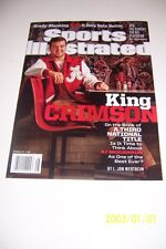 2013 Sports Illustrated ALABAMA Crimson Tide AJ MCCARRON The Best Ever? NO LABEL