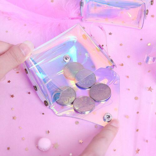 Heiße Mädchen Holografische Klar Kosmetische Münzen Geldbeutel Laser Geldbörse
