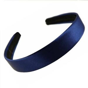 2-5cm-Wide-Navy-Blue-Satin-Covered-Alice-Hair-Band-Headband