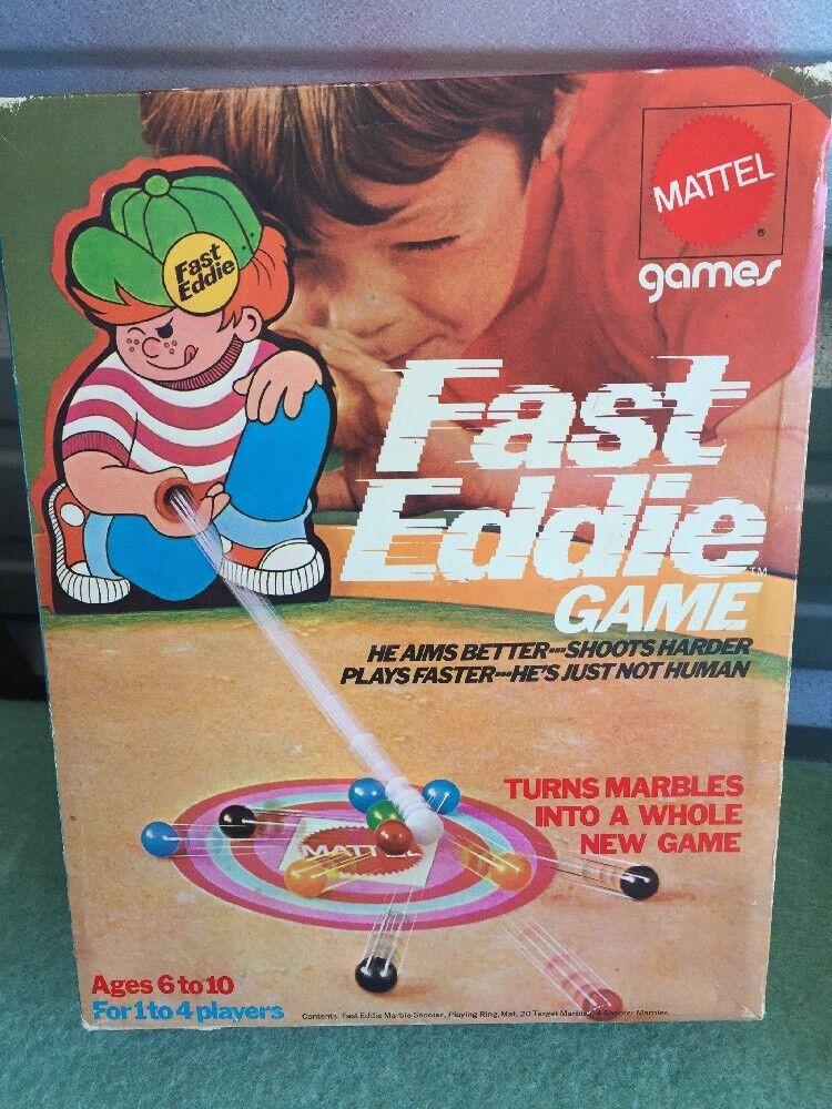 RARE MATTEL 1970 Scellé Fast Eddie jeu marbre Playset