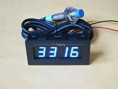 Rot Digital LED Tachometer Drehzahlmesser 9999RPM Hall Proximity Switch Sensor