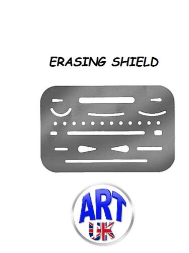 Erasing Shield Artists Stainless Steel Precision Drawing Eraser Template.
