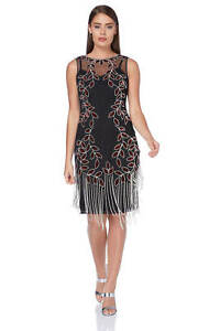 Roman-Originals-Ladies-Embellished-Flapper-Dress-Silver