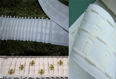 """Premium Quality Woven Pocket 3"""" Inch Heading ( 75mm ) Curtain Header Tape"""