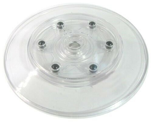 "3 Pack Black Acrylic Turn Table 4.25/"" Diameter Clear AZM"