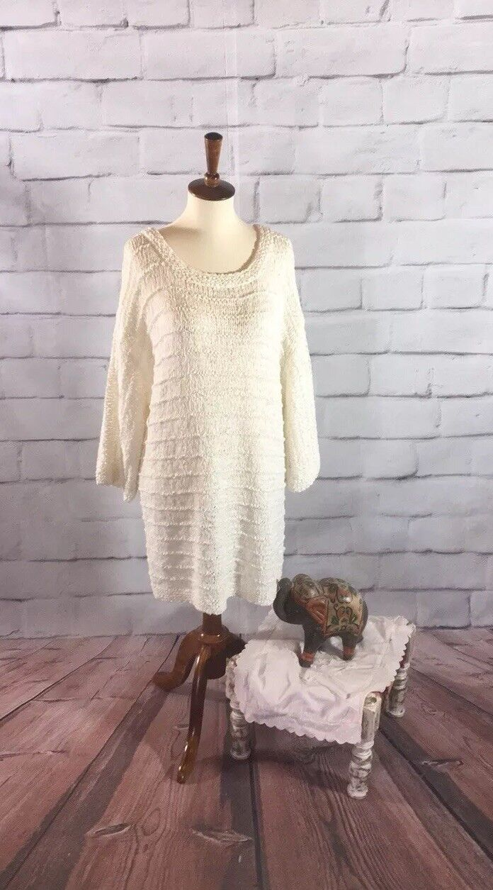 Ann Taylor Oversized Sweater Tunic Cute Comfy Women's XL (D15)