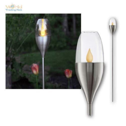Solar LED Gartenfackel Fackelleuchte Fackel flackernd wie Feuer Solarleuchte 1m