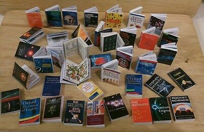 DOLLS HOUSE MINIATURE - Large JOB LOT OF 7 1/12th SCALE SCIENCE books sale!