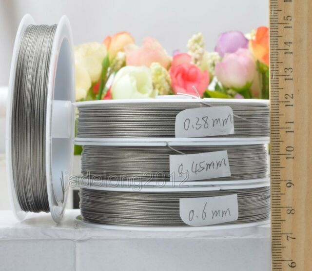 Wholesale 0.38 0.45 0.6mm Stainless steel beading wire Charm jewellery finding