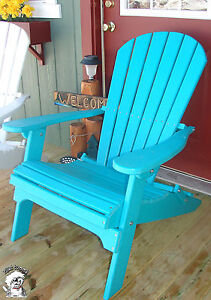 Phat Tommy Folding Adirondack Chair Recycled Poly Outdoor