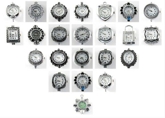 Silver Plated Vintage Style DIY Watch Face for beading Jewellery Making MC668*