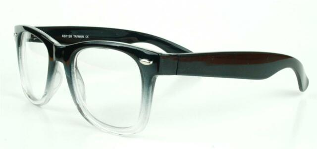 Fashion Gradient Thick Classic Frame Clear Lenses Men Women Eyeglasses Glasses
