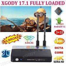 XGODY 2017 DDR4 Android 7.1 KODI 17.1 3+32GB Octa Core S912 4K TV BOX 3D Sports