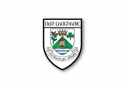 Sticker Car Motorbike Adhesive Souvenir Coat of Arms Vinyl Dun Laoghaire