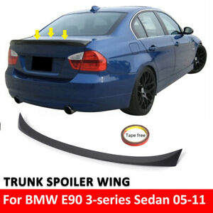 Matte-Black-Painted-ABS-Trunk-Spoiler-Rear-Wing-for-2005-2012-BMW-E90-3er-M3