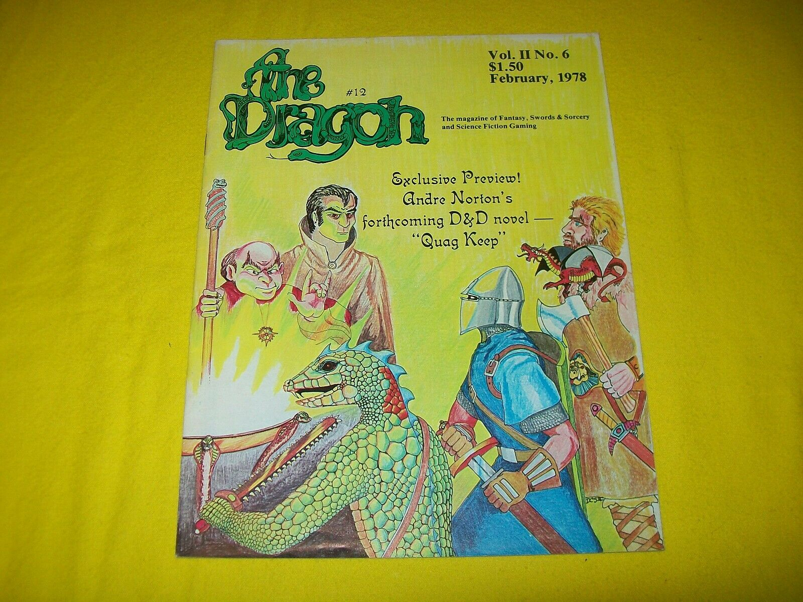 THE DRAGON MAGAZINE DUNGEONS & DRAGONS AD&D TSR - 4