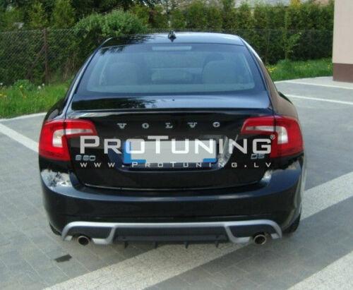 Volvo S60 V60 Rear Bumper Valance DUPLEX diffuser Spoiler R Style