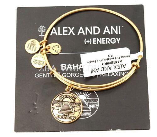Alex and Ani The Bahamas Exclusive Gold Charm Bracelet Bangle