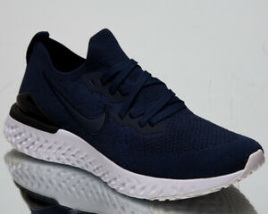 Details about Nike Epic React Flyknit 2 Mens College Navy Running Shoes Sneakers BQ8928 401