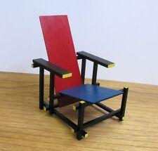 GERRIT RIETVELD RED & BLUE CHAIR,1:6 Miniature Furniture model,Modern Art Design