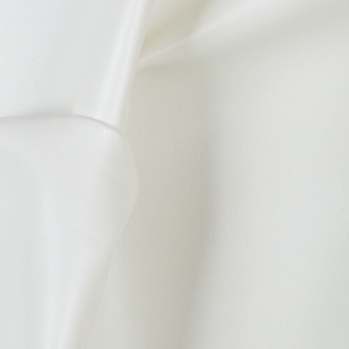 """White FAUX LEATHER Soft Skin Vinyl Fabric 54/"""" Wide Sold By the Yard"""