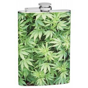 Personalised Hip Flask weed