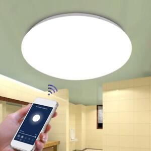 Details zu 48W Smart LED Deckenleuchte WiFi Fernbedienung Aufputz  Schlafzimmer Home Lampe